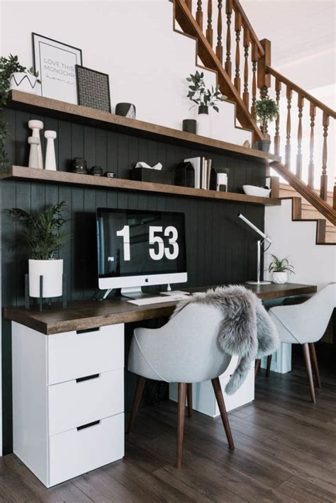 Diy Office Desk With Bookshelves For Home