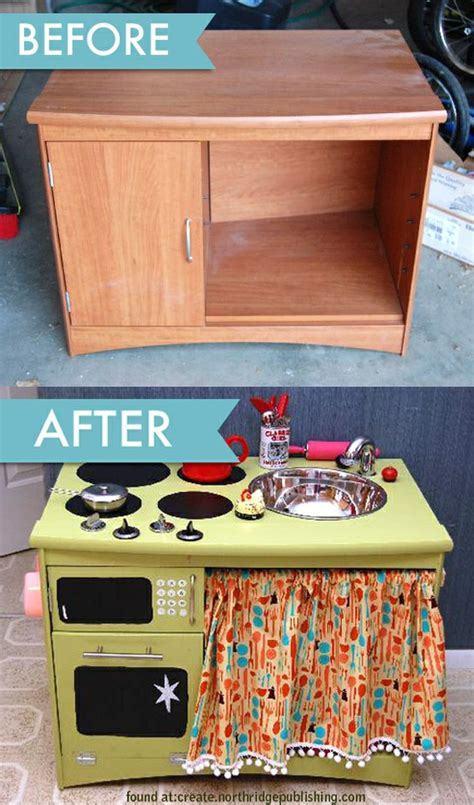 Diy Old Furniture Made Into Child Kitchen