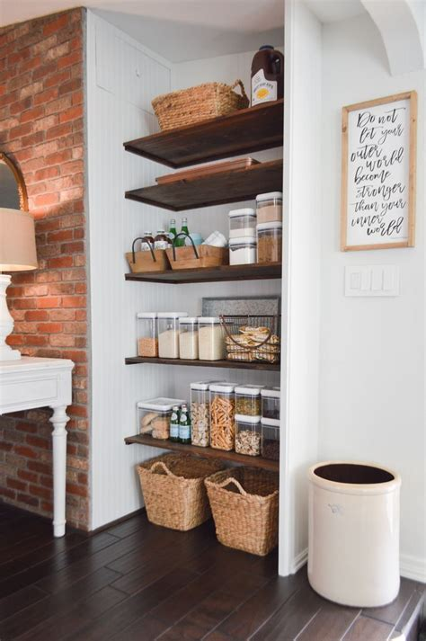 Diy Open Pantry Shelves