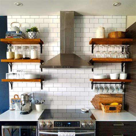 Diy Open Shelves Kitchen