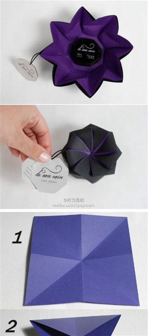 Diy Origami Paper Flower Box Instructions