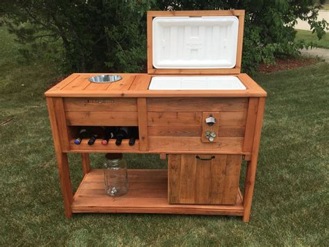Diy Outdoor Bar Cart With Cooler
