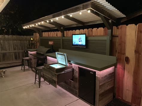 Diy Outdoor Bar Grill