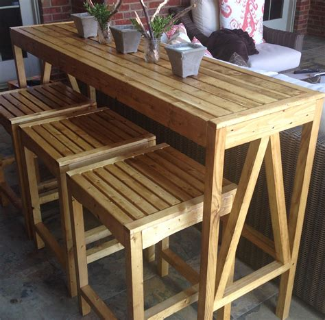 Diy Outdoor Bar Table And Stools