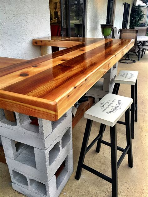 Diy Outdoor Bar Top Finishes