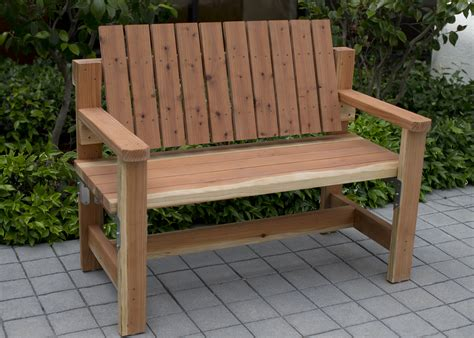 Diy Outdoor Bench With Back