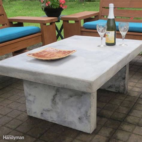 Diy Outdoor Cement Table Looks