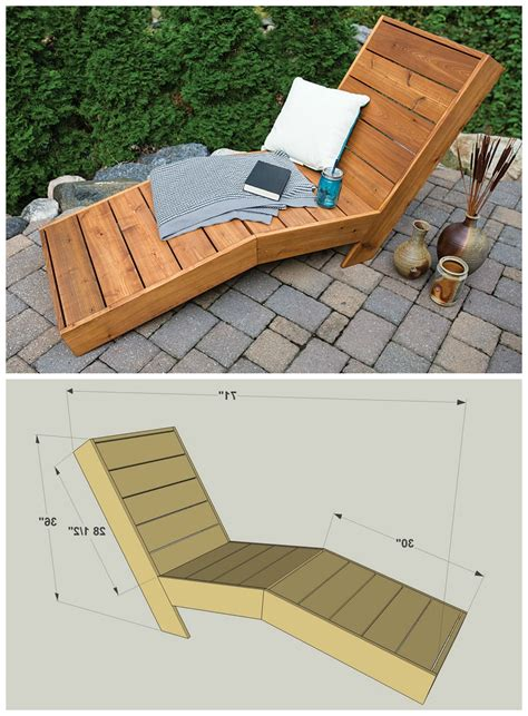 Diy Outdoor Chaise Lounge Plans