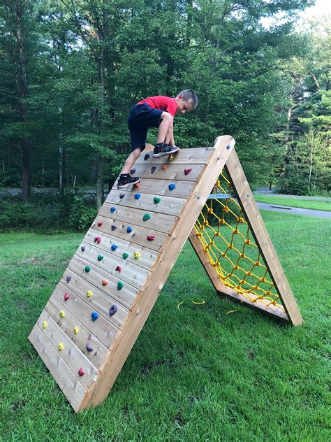 Diy Outdoor Climbing Wall Kids