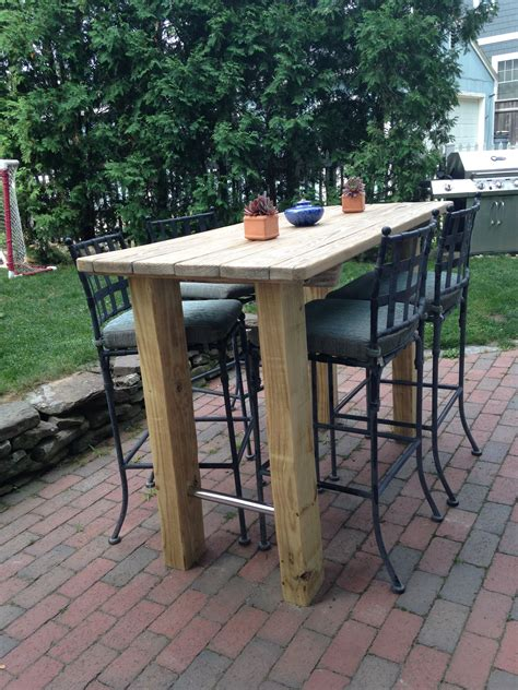 Diy Outdoor Counter Height Table