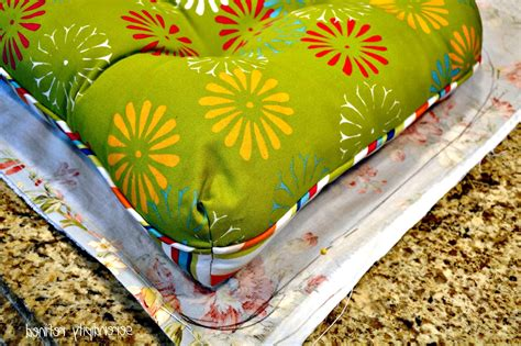 Diy Outdoor Cushions Using Shower Curtain