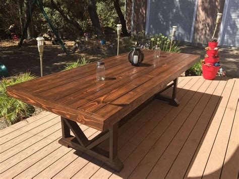 Diy Outdoor Dining Table Seats 10