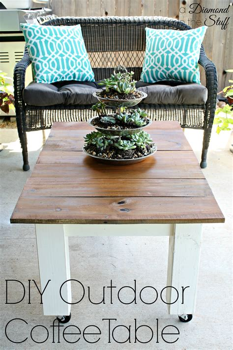 Diy Outdoor End Table Tops