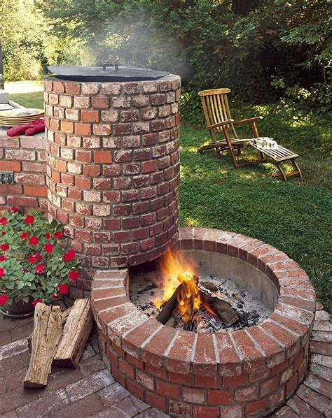 Diy Outdoor Fire Pit With Oven Grill Plans