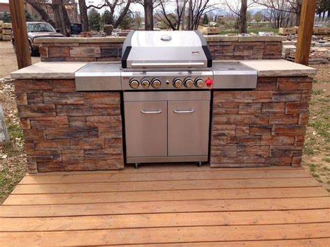 Diy Outdoor Grill Surround Plans
