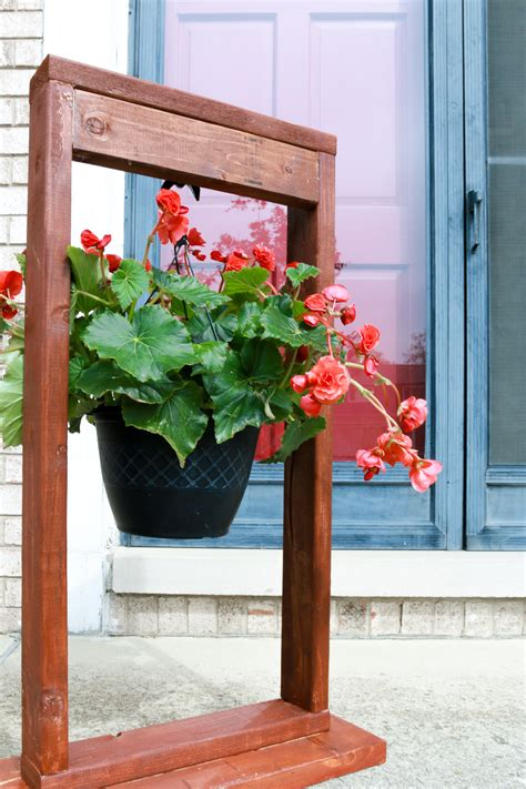 Diy Outdoor Hanging Plant Stand