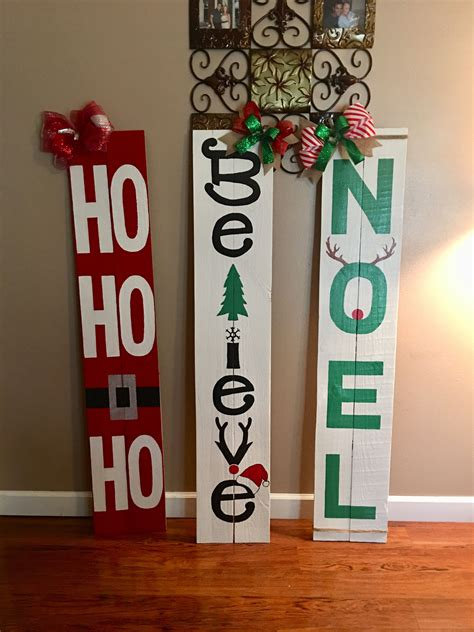 Diy Outdoor Holiday Wood Signs
