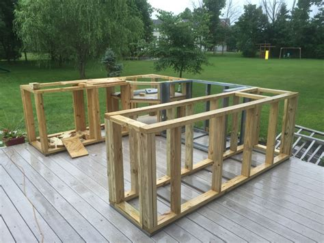 Diy Outdoor Kitchen Frame
