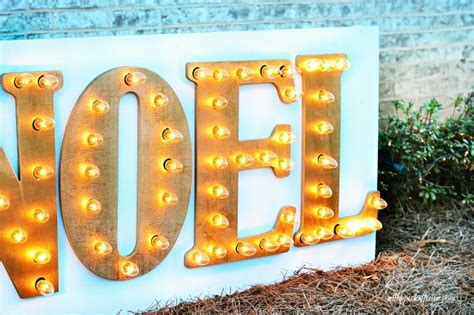 Diy Outdoor Marquee Sign
