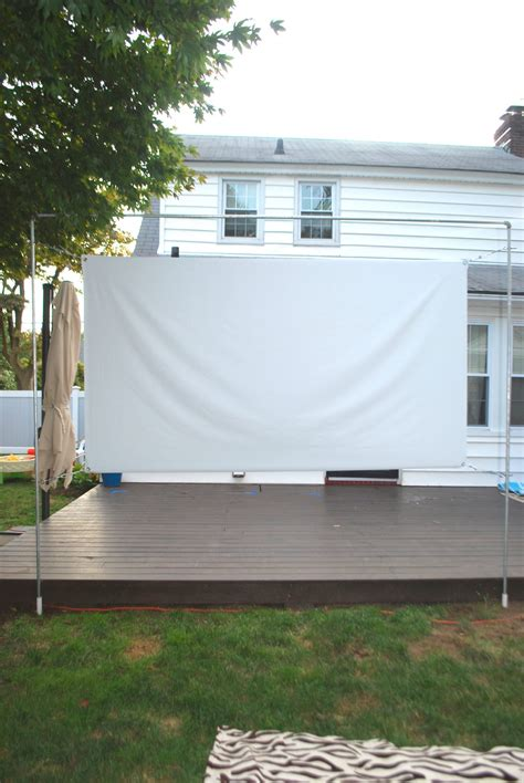 Diy Outdoor Movie Screen Stand