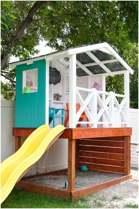 Diy Outdoor Playhouse With Sandbox