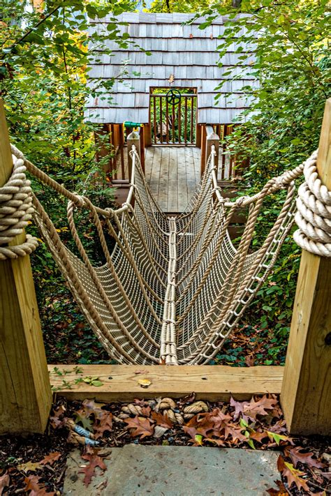 Diy Outdoor Playset Plans With Rope Bridge
