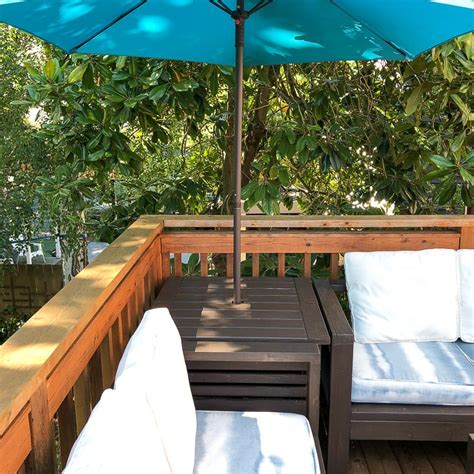 Diy Outdoor Side Table For Umbrella Stand