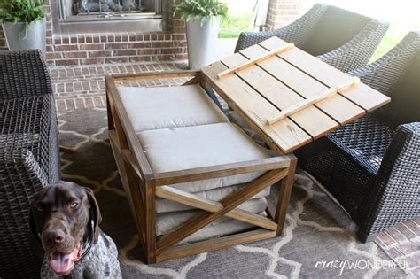 Diy Outdoor Storage Table