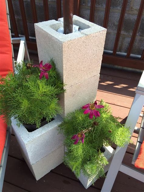 Diy Outdoor Umbrella Stand Cinder Block