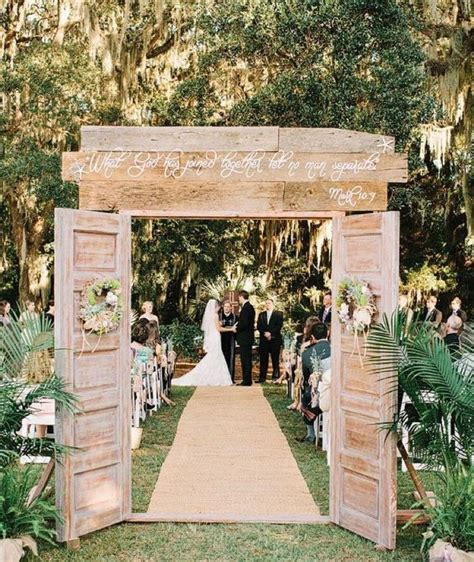 Diy Outdoor Wedding Doors