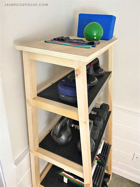Diy Outdoor Weight Storage Shelving