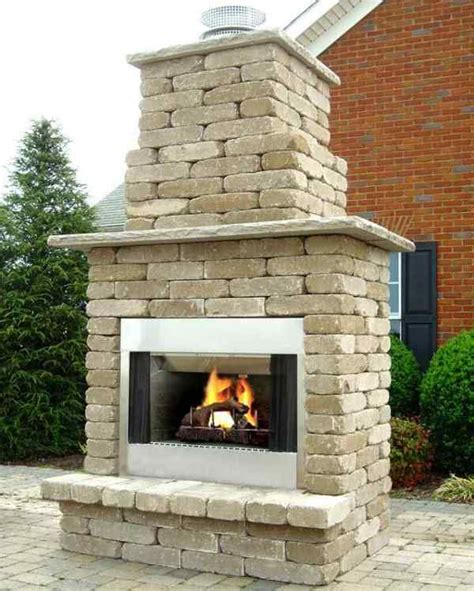 Diy Outdoor Wood Burning Fireplace Kits