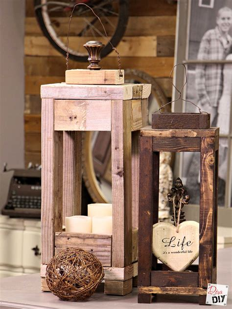 Diy Outdoor Wood Lanterns To Make On Pinterest