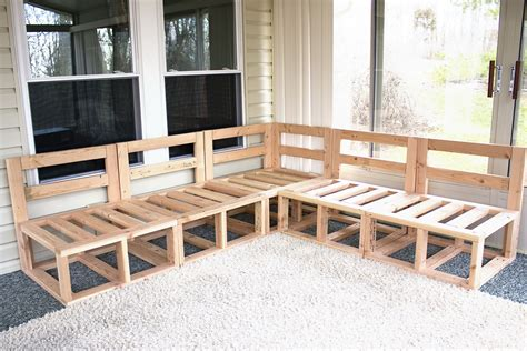 Diy Outdoor Wood Sectional Furniture