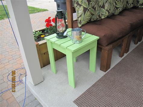 Diy Outdoor Wood Side Table