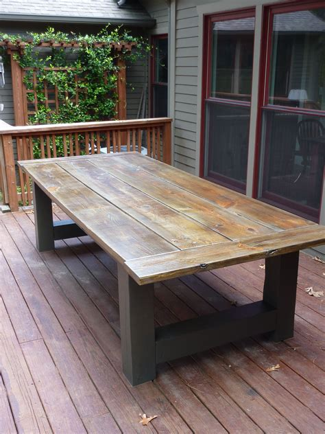 Diy Outdoor Wood Top Table
