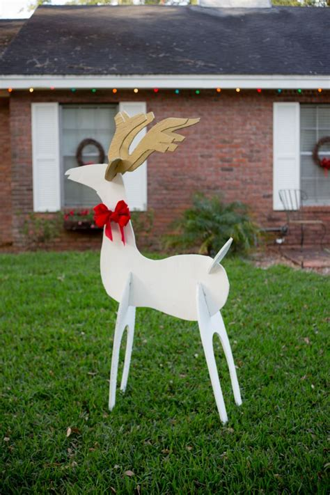 Diy Outdoor Wooden Reindeer Decorations