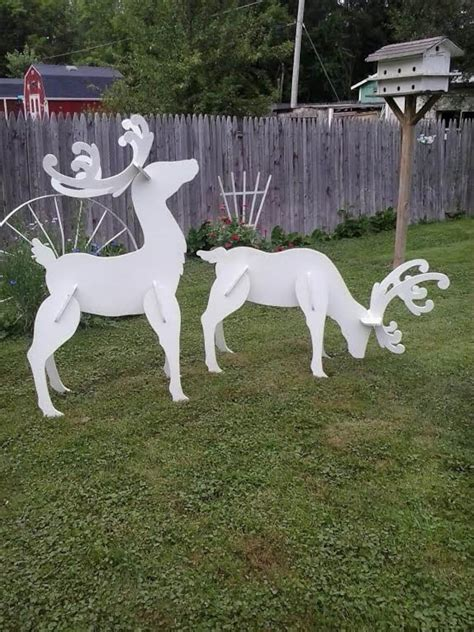Diy Outdoor Wooden Reindeer Display