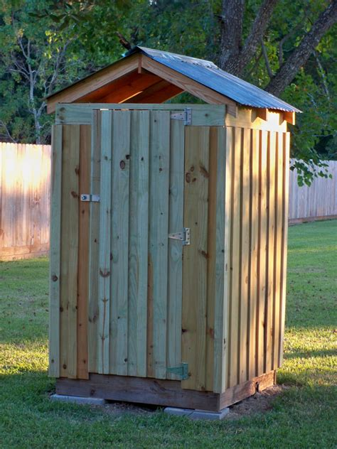 Diy Outhouse Garden Storage