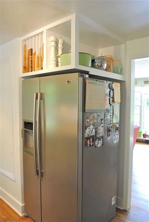 Diy Over Refrigerator Storage Ideas
