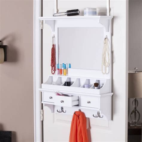 Diy Over The Door Storage Mirror