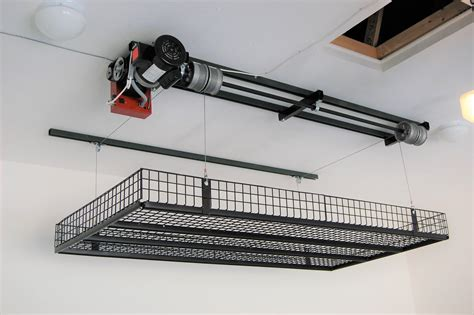 Diy Overhead Garage Storage With Winch