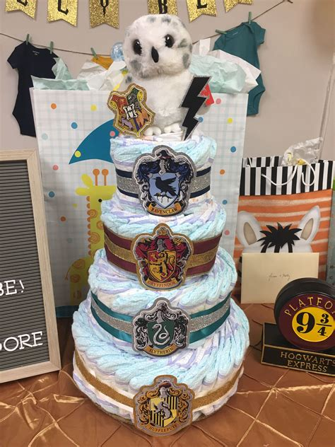 Diy Owl Baby Shower Diaper Cake