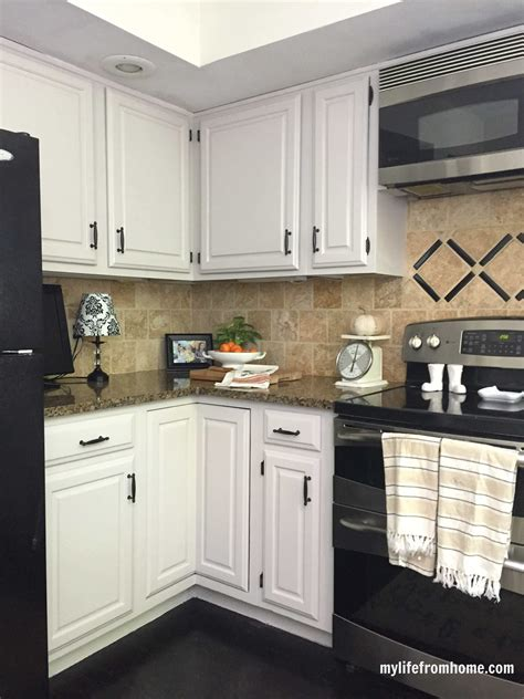 Diy Paint Espresso Cabinets To White Cabinets