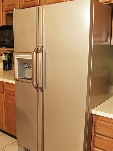 Diy Paint Fridge Stainless Steel
