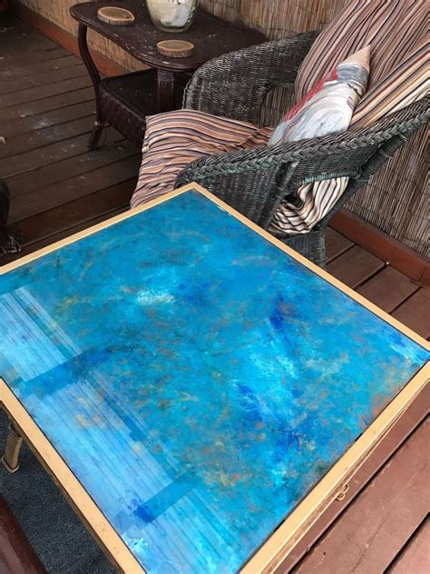 Diy Paint Glass Table Top