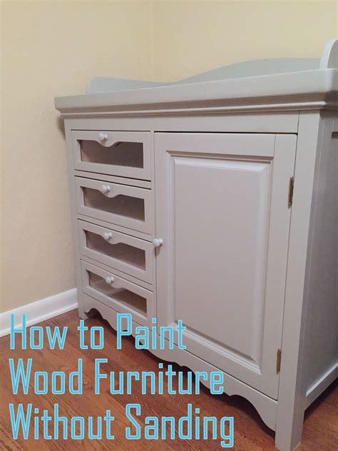 Diy Paint Wood Table No Sanding