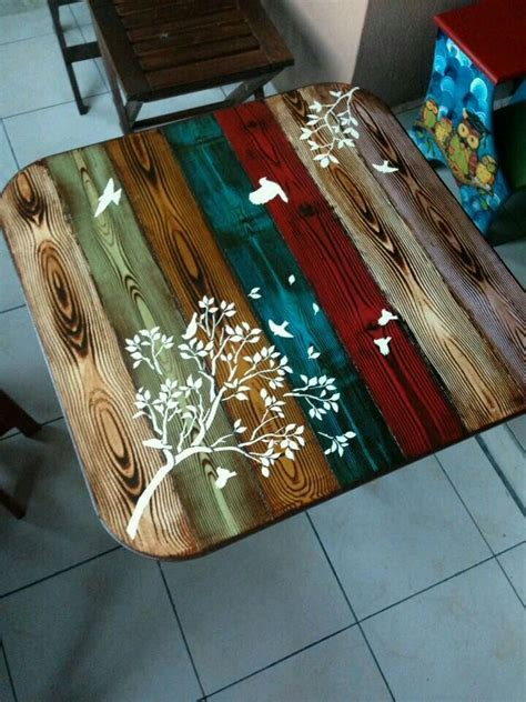 Diy Paint Wood Table Top