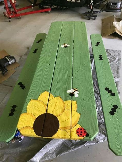 Diy Painted Picnic Table