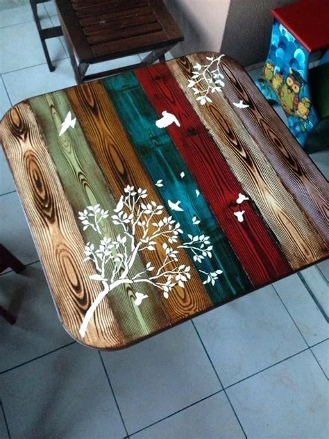 Diy Painted Table Top Ideas